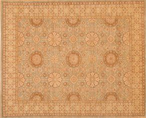 Oushak 82039<div>9 x 12 9-5 x 11-9 Light Brown hand spun wool pile Hand-knotted in Pakistan rugs</div>
