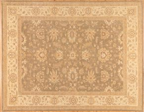 Oushak 82933<div>9 x 12 9 x 11-8 Green hand spun wool pile Hand-knotted in Pakistan rugs</div>